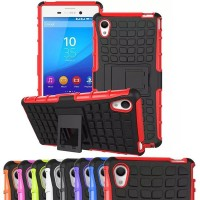 Xperia Z2 Rugged Armor Hard+Soft Case Cover Casing bumper stand sony