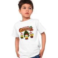 Kaos Minions Merry Christmas Anak 1-7thn Seasons Natal Top Atasan Baju