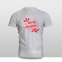 Kaos Baju Pakaian NATAL MERRY CHRISTMAS FONT DAUN MURAH
