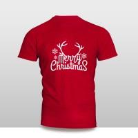 Kaos Baju Pakaian NATAL MERRY CHRISTMAS FONT TANDUK MURAH
