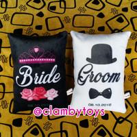 Bantal Custom Print Couple Wedding Gift 33x24cm | Couple Pillow New