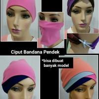 Ciput Bandana Pendek Inner Jilbab Pasmina Instan Hijab Muslimah Bando