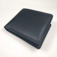 dompet pria kulit sapi asli warna hitam | bifold wallet