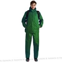 Jas Hujan Rain Coat M2 Hijau Army Cocok Buat Hiking dan Hangout