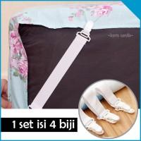 Tali Pengait Ujung Sprei Bed Cover Tempat Tidur (1 set isi 4 biji)