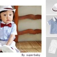 Baju Anak - 3in1 Blue White Set (BO-470)