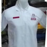 POLO SHIRT TEMAN AHOK(PUTIH)/KAOS POLO TEMAN AHOK