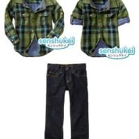 Baju Anak - Plaid Jeans Set (BO-474)