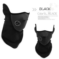 Motorcycle Ski Half Face Mask / Masker Motor - Black