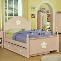 Tempat tidur ranjang dipan laci kamar anak jati jepara bisa custom