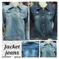 Jaket jeans washed AJ 01 polos