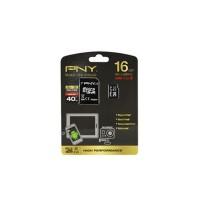 PNY UHS-1 MicroSD Memory Card - 16GB - Adapter