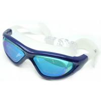 Ruihe Kacamata Renang Big Frame Anti Fog UV Protection - RH9110 - Blue