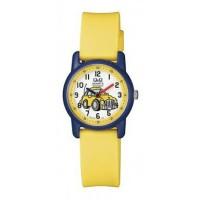 Jam tangan anak-anak merek Q&Q VR41J009Y strap rubber analog jam mobil