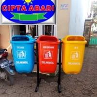 Tempat Sampah Fiberglass / Tempat Sampah Pilah / Tempat Sampah B3