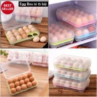 Egg Box Sekat 15 / Kotak Penyimpanan Telor 15 Sekat