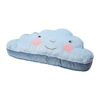 WM IK4430 Bantal model awan 59x34 cm nyaman dipeluk warna biru muda