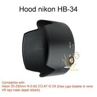 Lens Hood HB-34 for Nikon 55-200mm f4-5.6G ED AF-S DX