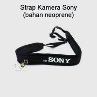 Strap Kamera Hitam Sony (bahan neoprene)