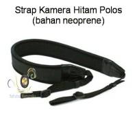 Strap Kamera Hitam Polos (bahan neoprene)