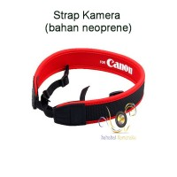 Strap Kamera Merah Canon (bahan neoprene)