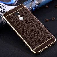 TPU Leather metal bumper case Xiaomi Redmi 3