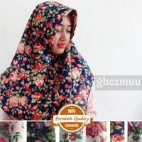 JILBAB SEGIEMPAT ROSE UMAMA 3 (Khimar-Pashmina-Ciput-Hijab Instan)