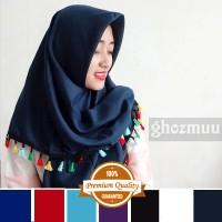 JILBAB SEGIEMPAT RUMBAI RAINBOW 7 (Khimar-Pashmina-Ciput-Hijab Instan)