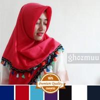 JILBAB SEGIEMPAT RUMBAI RAINBOW 2 (Khimar-Pashmina-Ciput-Hijab Instan)