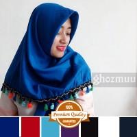 JILBAB SEGIEMPAT RUMBAI RAINBOW 1 (Khimar-Pashmina-Ciput-Hijab Instan)