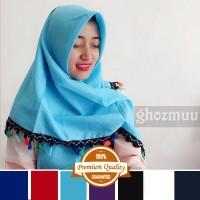 JILBAB SEGIEMPAT RUMBAI RAINBOW 3 (Khimar-Pashmina-Ciput-Hijab Instan)