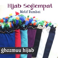 JILBAB SEGI EMPAT RUMBAI RAINBOW (Khimar-Pashmina-Ciput-Hijab Instan)