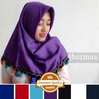 JILBAB SEGIEMPAT RUMBAI RAINBOW 4 (Khimar-Pashmina-Ciput-Hijab Instan)