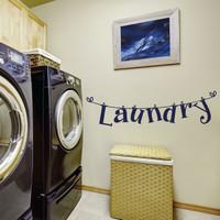 Wall Sticker Quotes Tulisan Laundry Cuci Stiker Dekorasi Dinding Rumah
