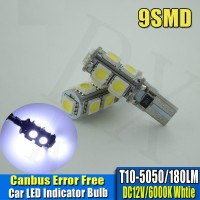 Lampu Senja LED T10 CANBUS WHITE 9 Titik Mata SMD 5050 Putih Mundur