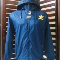 Jaket Parasut/Hoodies Adidas #Jaket bola/Running/outdoor/Joging/Jumper