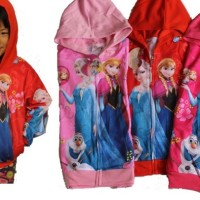 Jaket Jeket Fashion Anak Cewek Perempuan Karakter Frozen Elsa Anna