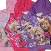 Jaket Jeket Fashion Anak Cewek Perempuan Karakter Frozen Pinting S-XL