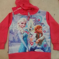 Jaket Jeket Fashion Anak Cewe Perempuan Karakter Frozen Family Forever