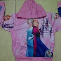 Jaket Jeket Fashion Anak Cewek Perempuan Frozen Elsa Anna Castle
