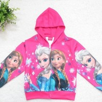 Jaket Jeket Fashion Anak Cewek Perempuan Import Frozen Anna Elsa