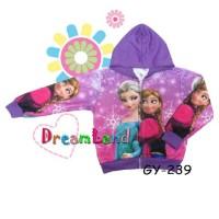 Jaket Jeket Fashion Anak Cewek Perempuan Import Karakter Frozen