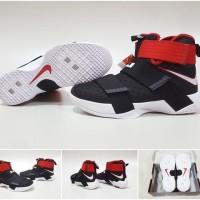 Sepatu Basket Nike Lebron Zoom Soldier 10 Bred Black Red