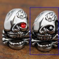 Anting Pria Wanita Ukir Tengkorak Skull Earrings Titanium Ste - Black Eyes