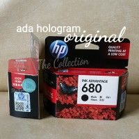 SEALED HITAM Tinta HP 680 Black Catridge Printer Original Ink Deskjet