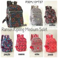 TAS RANSEL KIPLING MOTIF MEDIUM Baru | Tas Backpack Wanita
