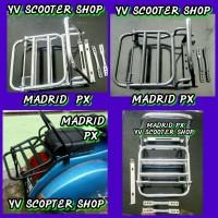 Aksesoris Vespa Clasic , px , excel , super / Back Rack Madrid