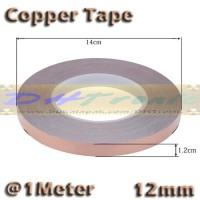1 Meter 12mm Copper Tape Foil Isolasi Solatip Tembaga Jalur PCB Mod