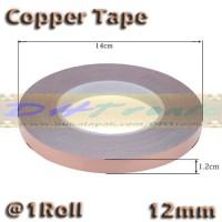 1 Roll 12mm Copper Tape Foil Isolasi Solatip Tembaga Jalur PCB Mod