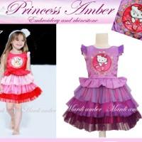 Baju Anak - Amber Princess Hello Kitty Purple (GI-723)
